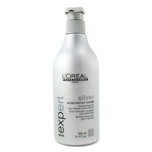L'Oreal silver shampooing pour cheveux gris et blanc 500 ml